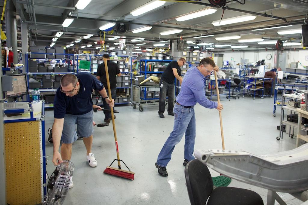 アメリカの航空部品修理工場で最高益更新